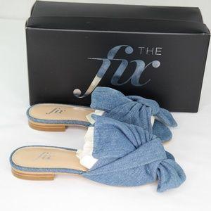 The Fix Naomi Slide Sandals Sz 6 Blue Denim